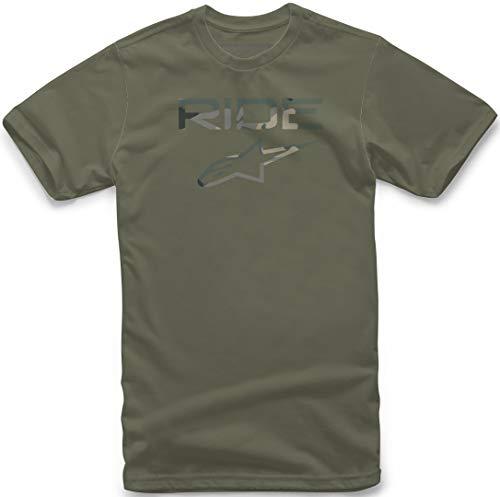 Alpinestars - Camiseta de manga corta para hombre, diseño moderno verde Verde Militar xx-large