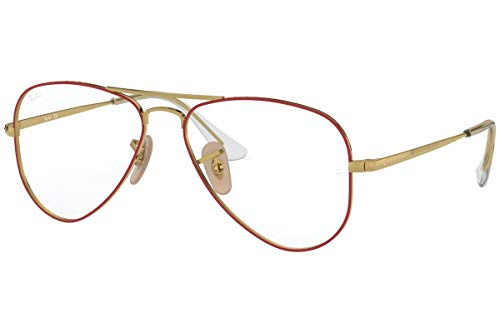 Ray-Ban JUNIOR AVIATOR RY1089-4075 - Marco para gafas (52 mm), color rojo