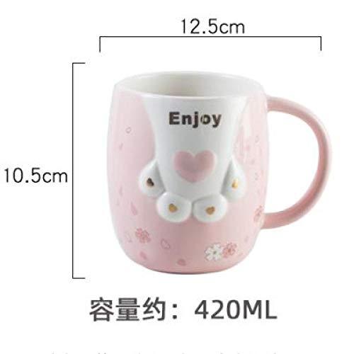 HRDZ Creative Gatto artiglio tazza tazza caffè tazza tazza tazza tazza di grande capacità personalità coppia ceramica colazione latte tazza, B, 420ml
