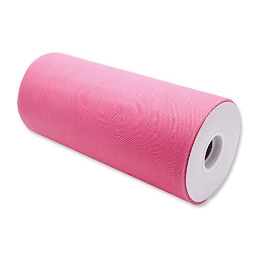 Formoso Bobina 25cm 100MT Rollo de Tul decoración bomboneras Big Party Rosa Art. 85120