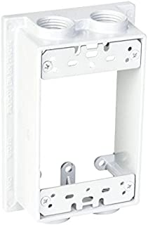 TayMac SE450WH Weatherproof Box Extension, 1-Gang, (4) 1/2-Inch Outlets, White