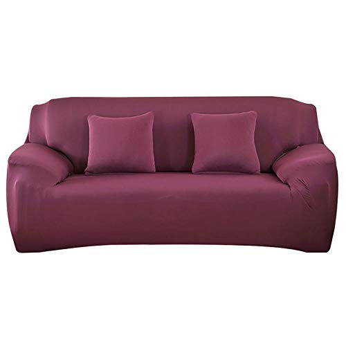 HXTSWGS Protector de Muebles,Sofa Covers, Stretchable ElasticSofa Cover,Sofa Seat Cover,Sofa Protector,Furniture Protective Cover-Red Been_235-300cm