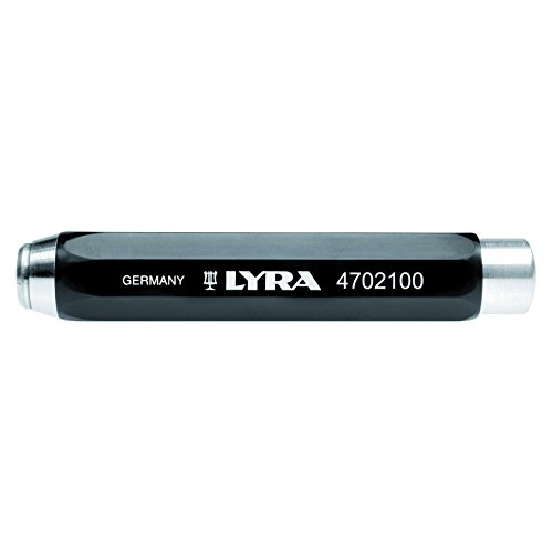 Lyra 4702100 Kreidehalter 6-Kant ø 9,5-10 mm aus Kunststoff, schwarz