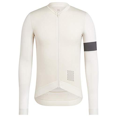 Rstar Radtrikot Langarm Rapha Radjacke Voll Zipper Mountainbike MTB-Shirt Fahrrad-Tops (Weiß,XS)