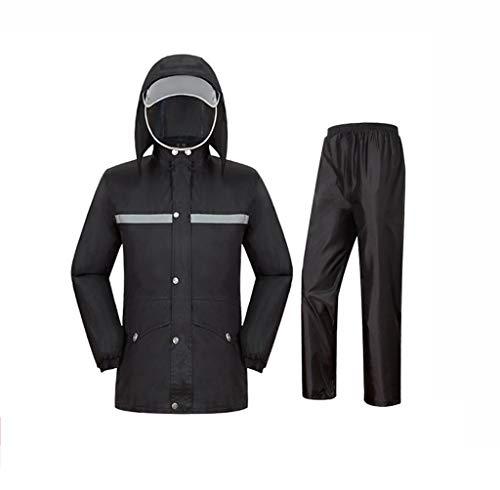 YDS Shop waterdicht bergbeklimmingspak (top + broek), dubbellaags ski-jack van stof, gemakkelijk draagbaar, outdoor-wandelen, golven vissen, onmisbaar X-Large