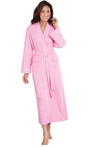 PajamaGram Ultra Soft Women Robe - Bath Robe Women's, Pink, Medium / 8-10