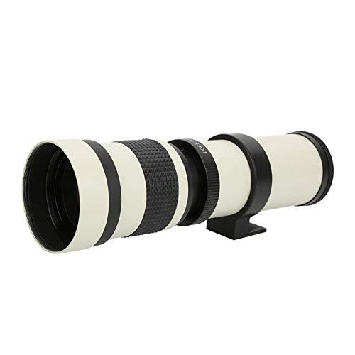 Topiky Lente teleobjetivo 420-800 mm F 8.3-16, Lente de Zoom del telescopio de Enfoque Manual de Ajuste para Nikon F Mount cámara