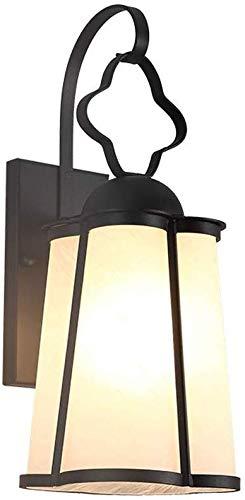 ZCCLCH Europea Impermeable al Aire Libre lámpara de Pared Balcón Antiguo Iluminación Clásica Fixture Pasillo de Cristal E27 Pared de la luz de la Linterna Jardín Exterior Focos de Pared (Color : S)