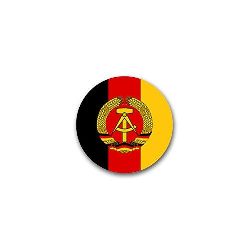 Copytec #A1843 Autocollant avec blason de la RDA et emblème de la République démocratique allemande 7 x 7 cm