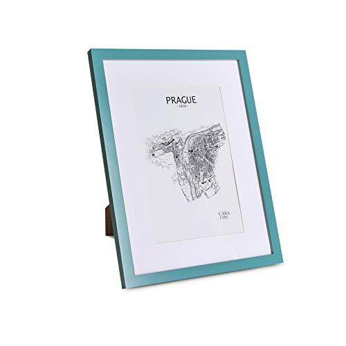 Classic by Casa Chic - Cornice 30x40 cm - Passepartout per Foto 20x30 cm - Legno -Verde Acqua