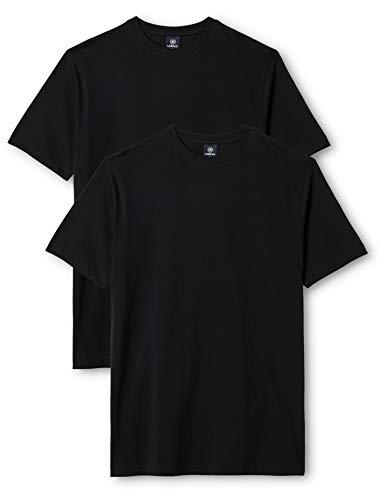LERROS Herren LERROS Herren Rundhals T-Shirt Doppelpack T-Shirt,,per pack Schwarz (Black 200),Medium