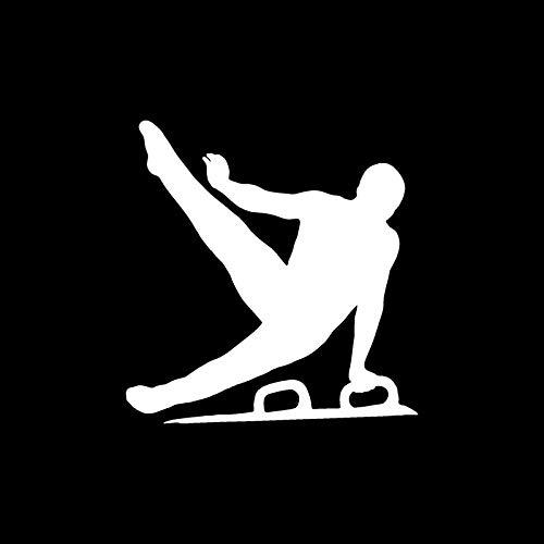 SHMAZ 11.4 * 12CM The Men s Gymnastics Vault Personalized Car Stickers Car Decorative Accessories