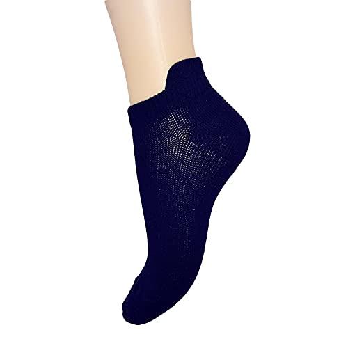 PASINI FASHION 6 pares - Calcetines cortos de algodón peinado azul con lengüeta - Colección BLU FLAPPED - transpirable y fresco (39-42)
