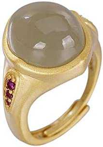 925 Silver Hotan Jade security Sapphire Fashion Open Bombing free shipping Ring Lady