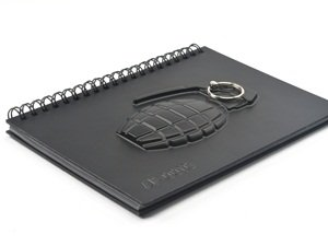 Cosmos 3D Grenade Notebook with Key Ring holder with Cosmos Fastening Strap Photo #6