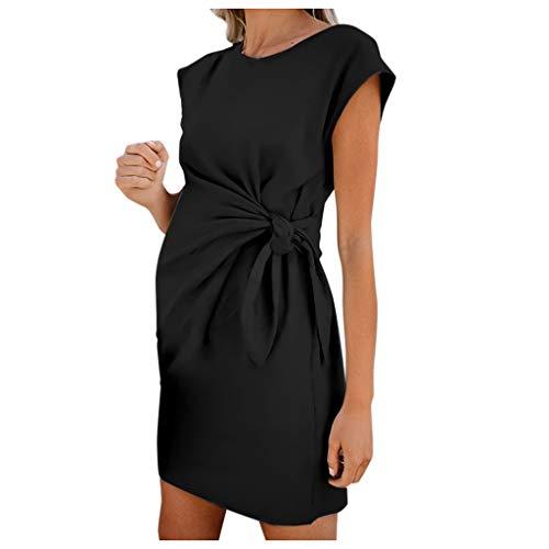 Hemlock Maternity Dress, Pregnant Summer Sleeveless Dress Printed Cute Shirt DressLadies O Neck Bodycon Dress