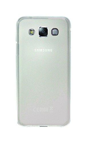 Phonix Gel Protection Plus Hülle mit Bildschirmschutzfolie für Samsung Galaxy E5 transparentes Weiss