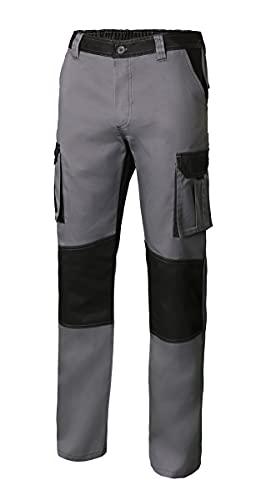 Velilla 103020B_08 00_60 pantalón Bicolor Multibolsillos, Gris y Negro