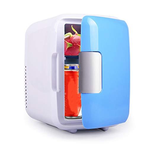 Mini Réfrigérateur de Refroidissement et de Chauffage Double Usage Portable Petit Mini Frigo électrique 12V/220V Calme pour Chambres/Bureau/Trajets Routiers/Camping (4 Liters)