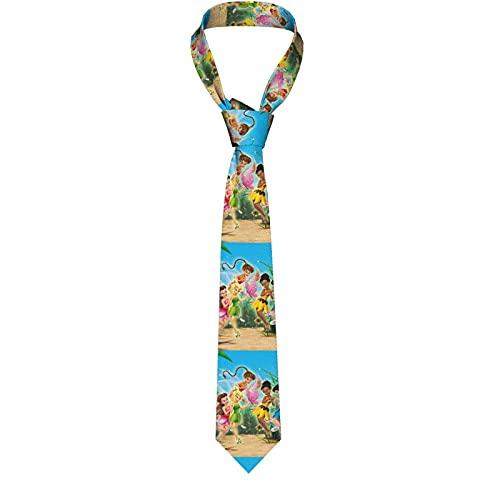 Corbata Tinker Bell Secret Wings Corbata casual para hombres corbata de negocios senior ajustable corbata de baile para jóvenes masculinos y femeninos corbata de fiesta corbata para selfie