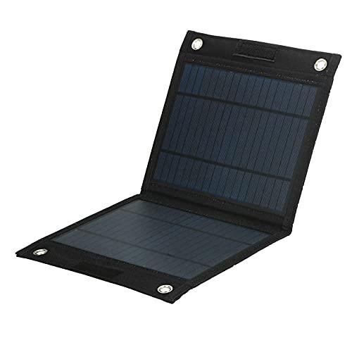 QuRRong Panel Solar Portatil 2 5W 12V Batería Plegable De Carga De Potencia Solar Monocristalina Plegable para Viajes de Senderismo (Color : Black, Size : 25W)