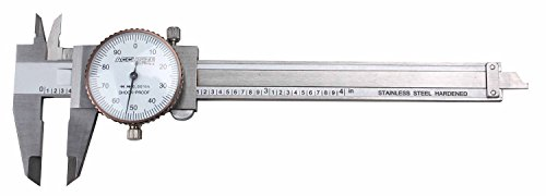 Accusize Industrial Tools 0-4 inch by 0.001 inch Precision Dial Caliper, Stainless Steel, in Fitted Box, P920-S214
