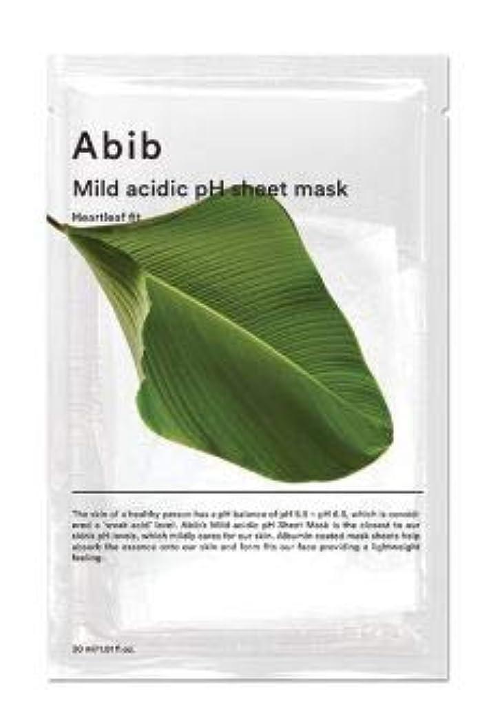 あごひげチロレコーダーABIB MILD ACIDIC pH SHEET MASK_ HEARTLEAF FIT (#1枚) [並行輸入品]
