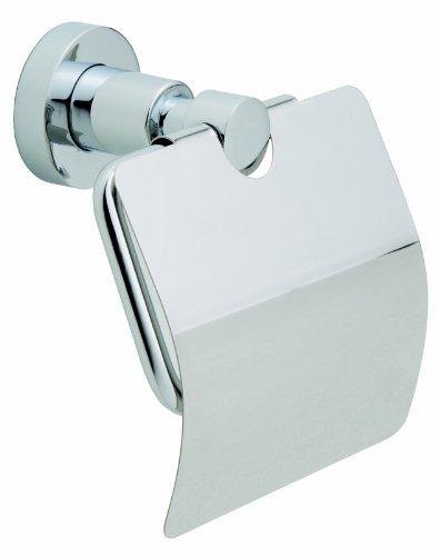 Nie Wieder Bohren Loxx WC-Papierhalter, mit Deckel, verchromt, rostfrei, inkl. Klebelösung, hohe Haltekraft (bis 6kg), 135mm x 140mm x 80mm