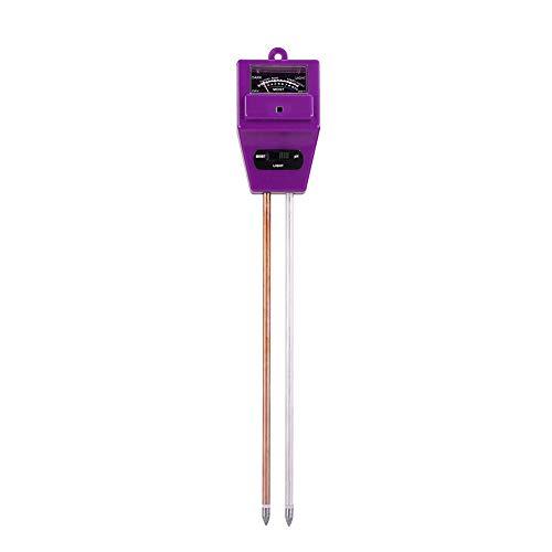 Matefield vochtmeter voor de vloer, pH-waardemeter voor 3-in-1 vochtmeter voor planten, voor tuin, boerderij en gazon, binnen en buiten Paars