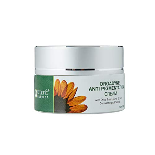 Organic Harvest Anti Pigmentation Cream, with Olive Tree Leaves Extract, Dermatologically Tested, 100% Organic ECOCERT certified Organic Face Cream , 100% Vegan & Cruelty-Free,PABA and Paraben free, Mineral Oil-free and Animal Ingredient free, 15g