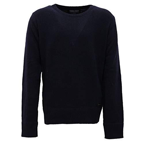 Woolrich 6616AB Maglione Bimbo Boy Blue/Grey Mix Wool Sweater Kids [8 Years]