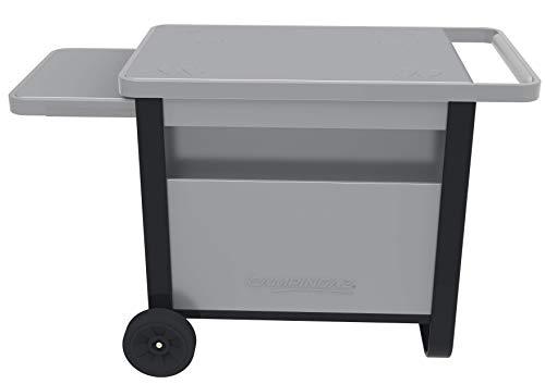 Campingaz Deluxe Attitude BBQ Master BlueFlame, Trolley con ripiano Laterale Estraibile e Scomparto Anteriore per griglia da Tavolo e plancha, Grigio