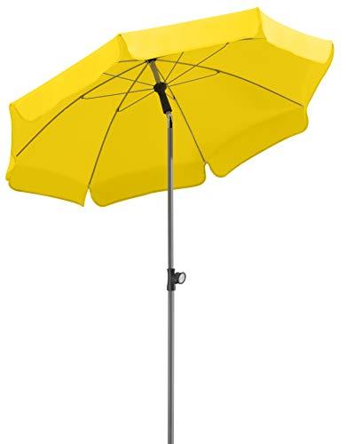 Schneider Sonnenschirm Locarno, zitrus, 150 cm rund, Gestell Stahl, Bespannung Polyester, 2 kg