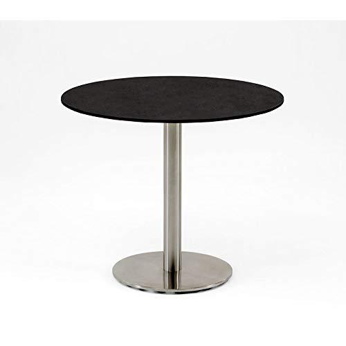 Niehoff Tisch Bistro, HPL-Tischplatte, Edelstahl, Durchmesser 125 cm