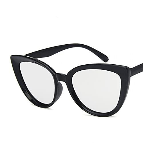 YTYASO Gafas de Sol de Moda para Mujer Gafas de Sol con Espejo Azul Tonos Negros para Mujer UV400