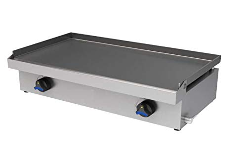Plancha profesional a gas especial hosteleria bar, placa 8mm. largo 80 cm.