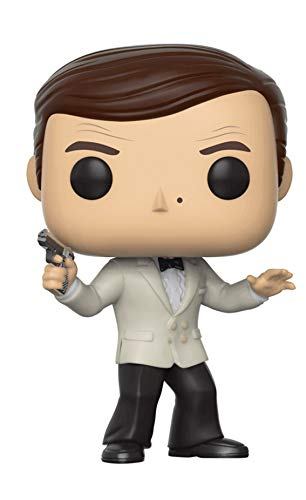 Funko- Figura Pop James Bond Roger Moore (FU24933) 10 centimetros