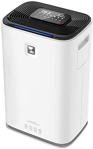 XUERUIGANG 5600 ml Air Dehumidifier w/Air Purifying Function, True HEPA Filter, Auto Shutoff, Touch Control Adjustable Air Speed, Ultra-Quiet, Ideal for Closets and Bathrooms (White)