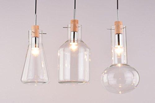 CAGUSTO Pendelleuchte Valla II 3-teilig 3er Glas Vasen Flaschen Edison Retro Design Bottle