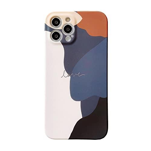 FYMIJJ Adecuado para la Caja del teléfono móvil iphone12 Nueva Cubierta Protectora de Apple 12 de TPU Mate a Juego de Colores Morandi, combinación de Colores de Morandi, para iPhone 6 6S