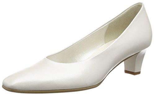 Gabor Damen Pumps, Weiß (Off White Pearlised Leather), 39 EU (6 UK)