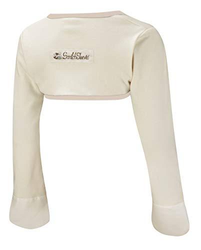 ScratchSleeves | Kratzhandschuhe mit Ärmeln für juckreizgeplagte Babys und Kleinkinder | Cremefarben/Cappuccino | 12-18m