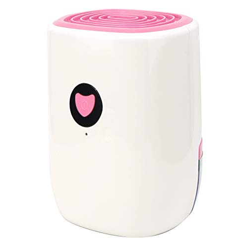 Save %5 Now! Simlug Electric Mini Dehumidifier, Air Dehumidifier Basement Dehumidification Machine Home Equipment 100‑240V for Home, Kitchen, Bedroom, Basement, Caravan, Office(Pink(US Plug))