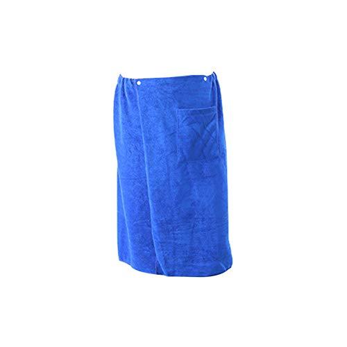 bdrsjdsb - Toalla de baño de poliéster para Hombre, con Falda de Microfibra, para natación, Playa, SPA y Bolsillo, poliéster, Azul