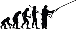 Evolution of Fly Fishing Fish Vinyl Graphic Car Truck Window Decor Decal Sticker - Die cut vinyl decal for windows, cars, ...