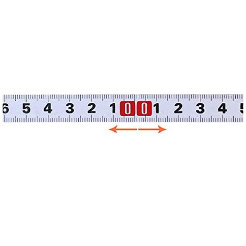 Regla métrica autoadhesiva de acero inoxidable de 1 a 5 m, resistente al óxido, resistente al desgaste, 3 m