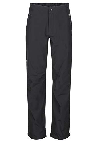 Marmot Herren Hardshell Regenhose, Winddicht, Wasserdicht, Atmungsaktiv Minimalist Pant, Black, L, 40350