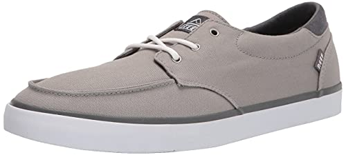 Reef Men's Deckhand 3 Shoes, Grey/White, 12