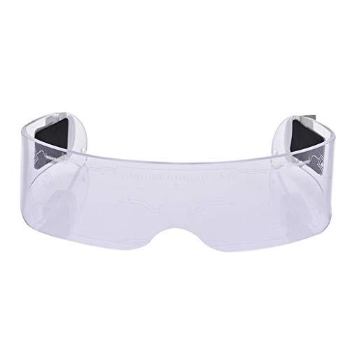 freneci Gafas de Visera LED, Varias Combinaciones de Flash, Velocidad de Diferencia, Gafas de luz de 7 Colores