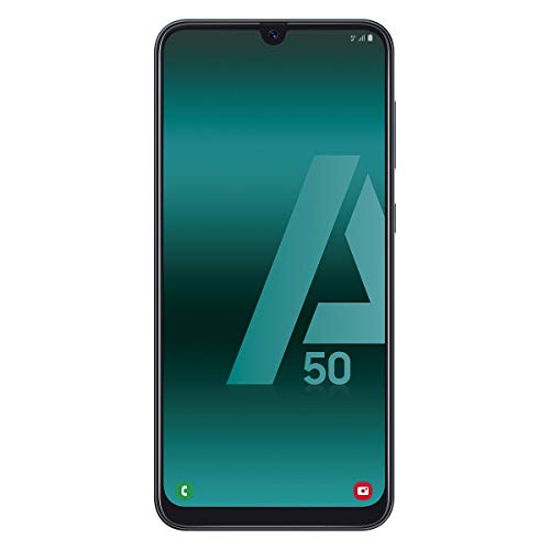 Samsung Galaxy A50 - Smartphone de 6.4' FHD sAmoled Infinity U Display (4 GB RAM, 128 GB ROM, 25 MP, Exynos 9610, Carga rápida), Negro [versión española]
